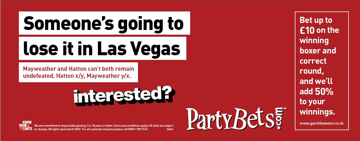 PartyBets press ads - Mayweather/Hatton fight in Las Vegas